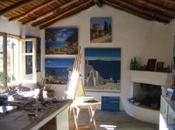 the studio interior