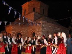 Young Skiathites, folk dancing in traditional dress
