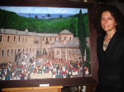Yianna Xera with her incrediblely detailed, intricate masterpiece