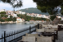 Skiathos old port from the now deserted Bourtzi
