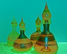 Glass Perfume Bottles - Italian