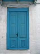 Skiathos town turquoise door
