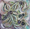 'Olives', acrylics on board, 50 x 50 cm